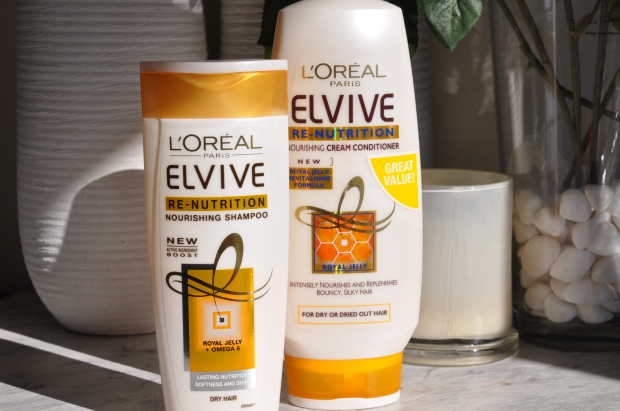l'oreal elvive re-nutrition shampoo and conditioner 1