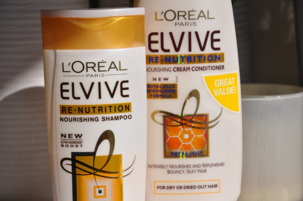 l'oreal elvive re-nutrition shampoo and conditioner